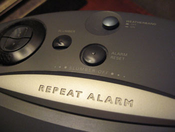 Alarm Clock, repeat alarm