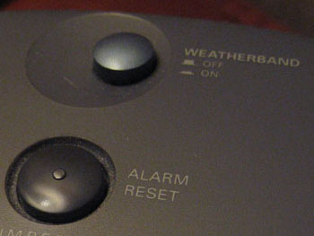 Alarm clock, weatherband